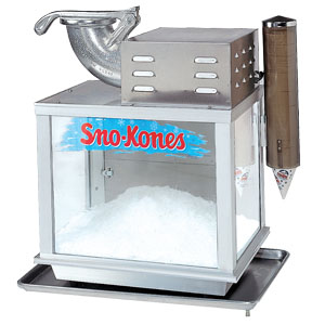 Heavy duty Gold Metal Snow Cone Machine.