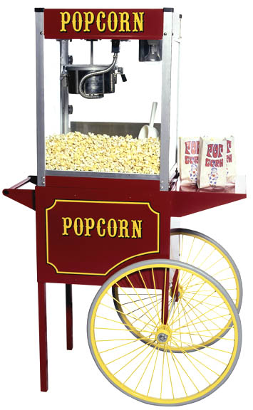 Old fashion 60 inch tall High Production Popcorn Machine.